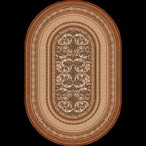 Aralia - Oval, Lys brun, Str. 150 x 250 cm.