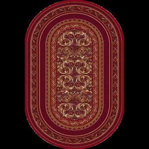 Aralia - Oval, Mørkerød, Str. 150 x 250 cm.