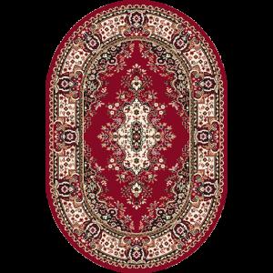 Fatima S - Oval, Rød, Str. 120 x 170 cm.