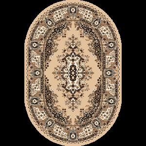 Fatima S - Oval, Beige, Str. 120 x 170 cm.