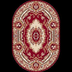 Krolewski S, Mørk rød, Oval