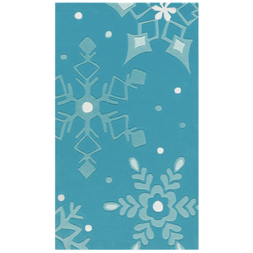 Børnetæppe, blå,  90 x 150 cm.
