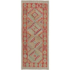 Old Afghan Kelim, 78 x 197 cm.