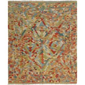 Old Afghan Kelim, 149 x 179 cm.