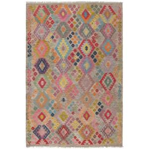 Old Afghan Kelim, 207 x 297 cm.