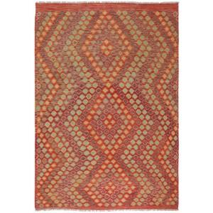 Afghan Kelim, 217 x 302 cm.