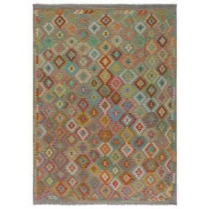 Old Afghan Kelim, 207 x 289 cm.