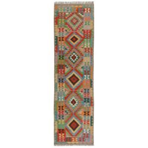 Afghan Kelim, 78 x 295 cm.