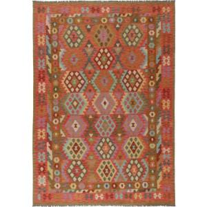 Afghan Kelim, 203 x 299 cm.