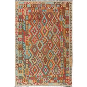 Afghan Kelim, 209 x 314 cm.
