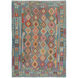 Afghan Kelim, 213 x 300 cm.
