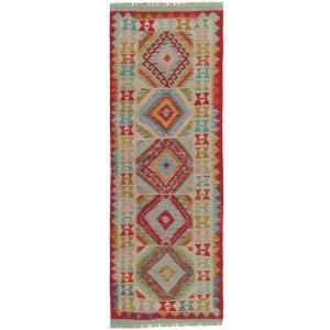 Afghan Kelim, 69 x 196 cm.