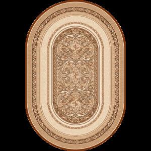 Aralia - Oval, Beige, Str. 150 x 250 cm.