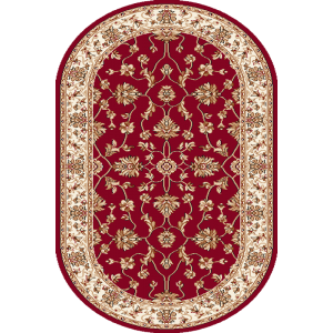 Begonia, Rød, oval, Str. 100 x 180 cm.