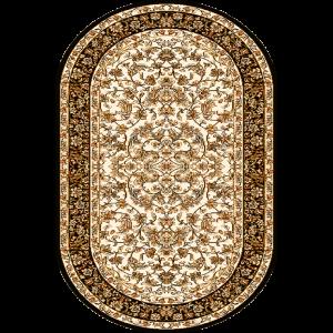 Hermonia, Creme, oval, Str. 100 x 180 cm.