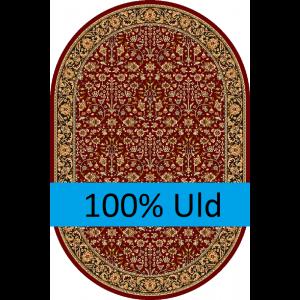 Itamar, Rød, Oval, Str. 160 x 240 cm.